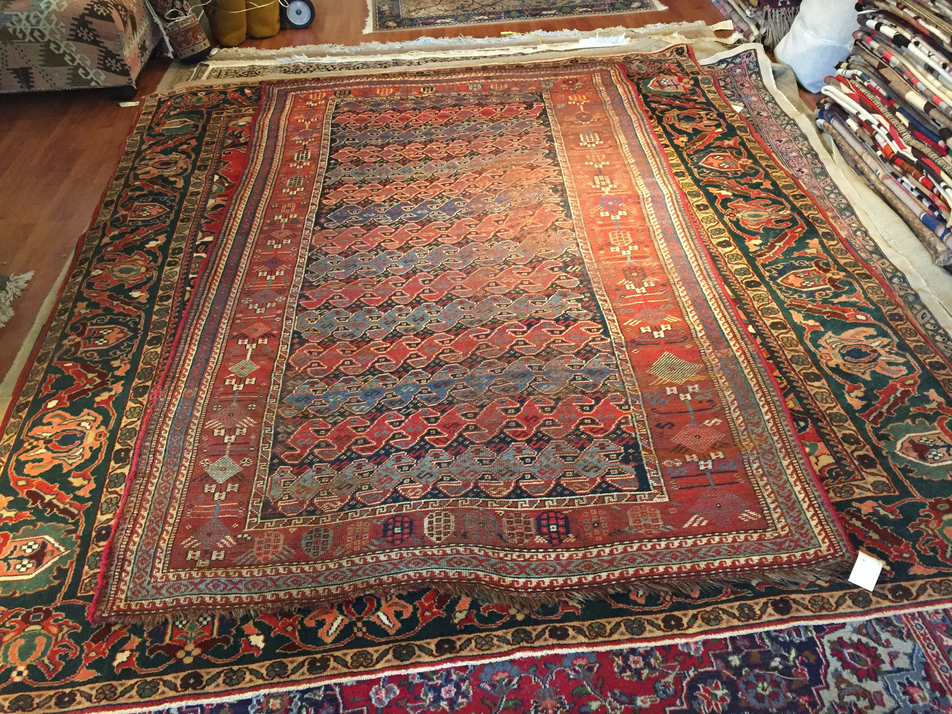 store c shiraz blue antique persian rug navy tribal x